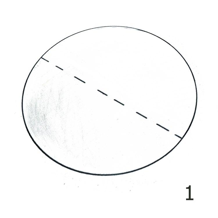Anleitung Rundfilterpapier falten Schritt 1