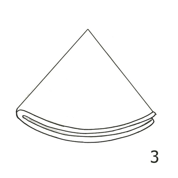 Anleitung Rundfilterpapier falten Schritt 3