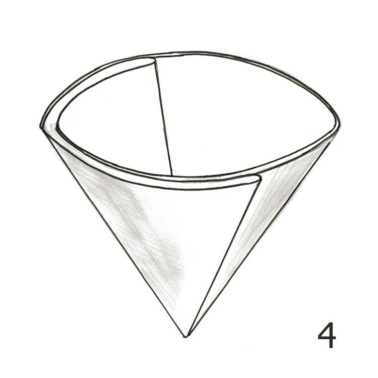 Anleitung Rundfilterpapier falten Schritt 4